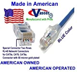SuperEcable - USA-0670 - 110 Ft UTP Cat5e - Made in USA - BLUE – UL 24Awg Pure Copper – Ethernet Network Patch Cable