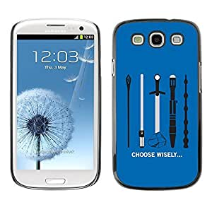 GagaDesign Phone Accessories: Hard Case Cover for Samsung Galaxy S4 - Choose Wisely Your Weapon