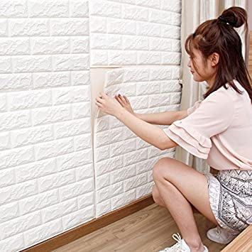 3D Brick PE Foam Wall Sticker Self Adhesive DIY Wallpaper For Living Room  Bedroom Decoration (