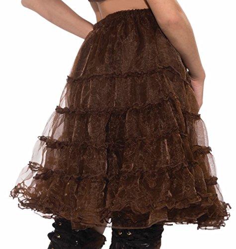 Forum Steampunk Crinoline Underskirt, Brown, Standard -