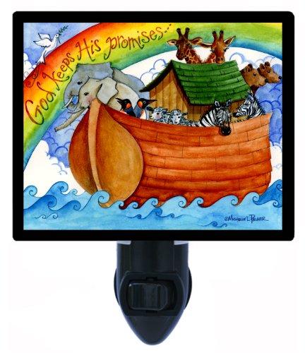 Noahs Ark Night Light, God Keeps His - Noahs Ark Light