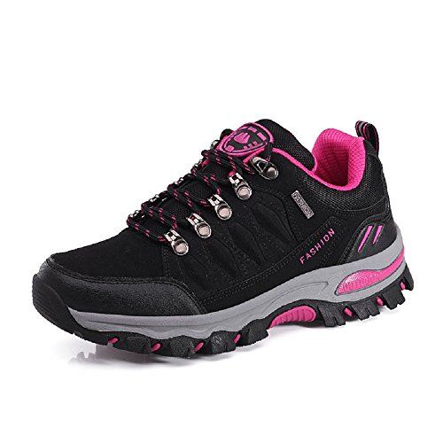 Driving Mountain 10 Shoes 3 NEOKER Ladies Hiking Womens Walking Mens pink Black Outdoor Size Trekking Trainers Sneakers UK q8f8zwWC