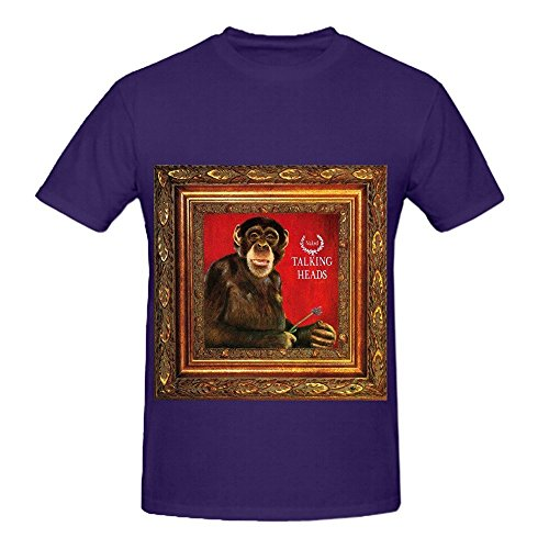 Talking Heads Naked Electronica Mens O Neck Funny T Shirts Purple