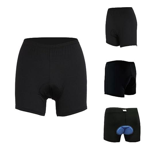 Lixada Pantalones Cortos Interiores para Ciclismo de Cintura Alto Gel 3D Acolchada para Hombres Mujeres: Amazon.es: Deportes y aire libre