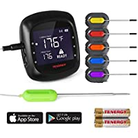 Tenergy Solis Digital Meat Thermometer, APP Controlled...