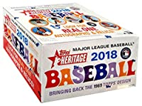 2018 Topps Heritage Baseball Retail Box (24 Packs/Box,9 Cards/Pack: 1969 Design, Loaded with Rookies Inserts)