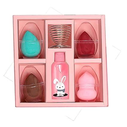 Guandongqi 10 en 1 Blender Esponja Set Maquillaje Esponja ...