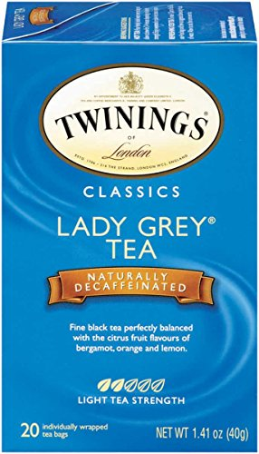 (Twinings of London Decaffeinated Lady Grey Tea, 20 Count (Pack of 6))
