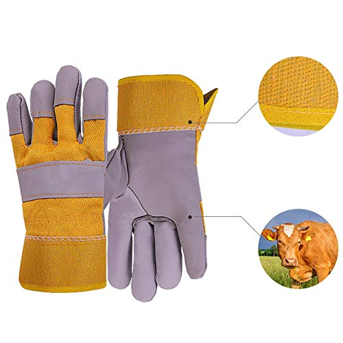 AINIYF Extreme Heat & Fire Resistant Gloves Leather With Stitching, Perfect For Fireplace, Stove, Oven, Grill, Welding, BBQ, Mig, Pot Holder, Animal Handling (Color : 10 pairs) by AINIYF (Image #2)