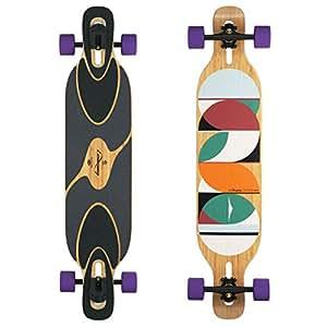 Loaded Boards Dervish Sama Bamboo Longboard Skateboard Complete (83a Durian, Paris 180mm Matte Blk Trucks, Flex 1)