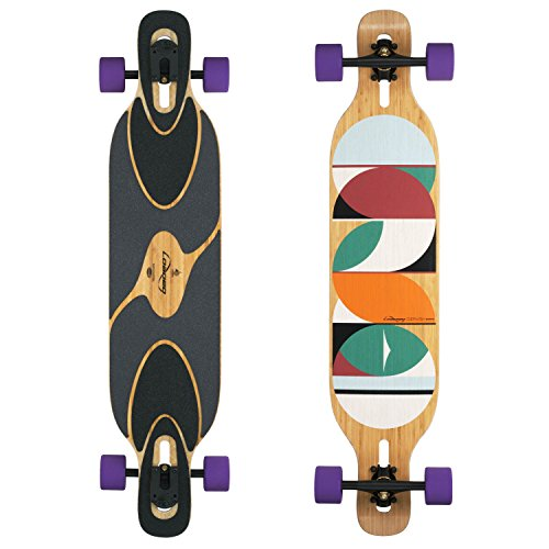 Loaded Boards Dervish Sama Bamboo Longboard Skateboard Complete (83a Durian, Flex 1)