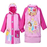 Children's Cartoon Raincoat Poncho Bag KT Cat Environmental Inflatable Hat Thickened,Princess,XL/Height:115-125cm/fit 7-8T