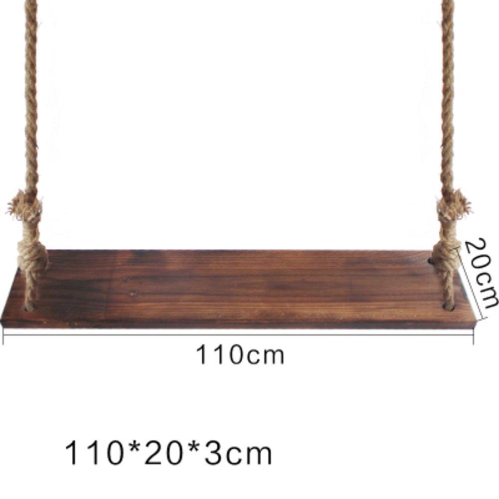 GX&XD Anti-korrosions Outdoor-Holz Schaukel,Pastorale Hof Im Freien Stuhl Erwachsene Einfach Solide Holz Schaukel Hängen