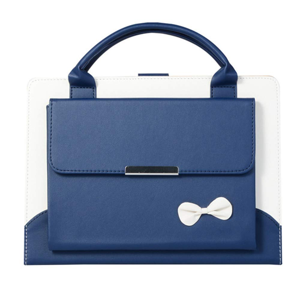 """Portable Slim Fit PU Leather Cute Handbag ,iPad air 3 10.5""""2019 Case Smart Stand Flip Protective Cover with Handle Pocket Auto Sleep/Wake for iPad Air 3 10.5 Inch 2019 release /iPad Pro 10.5 -Blue"""
