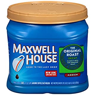 Maxwell House Original Medium Roast Decaf Ground Coffee, Decaffeinated, 29.3 oz Can