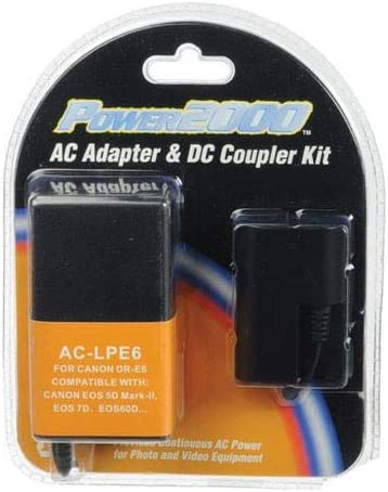 Power2000 AC Adapter /& DC Coupler Kit for Canon DR-E6