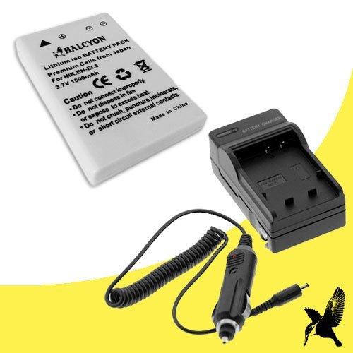 Halcyon 1500 mAH Lithium Ion Replacement EN-EL5 Battery and Charger Kit for Nikon Coolpix P520 18.1 MP Digital Camera and Nikon EN-EL5