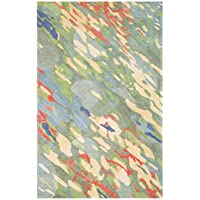 Company C Reflections Synthetic Accent, 9 x 13 Area Rug, Coral