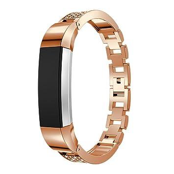 upxiang de repuesto de metal reloj pulseras con brillantes para ...