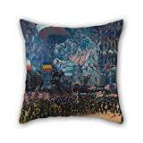 Slimmingpiggy Oil Painting George Luks - Armistice Night Christmas Pillow Covers 20 X 20 Inches / 50 By 50 Cm Gift Or Decor For Pub Club Bench Dinning Room Outdoor Kids Boys - 2 Sides