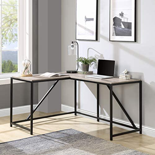 Merax L Shape L Workstation Computer Home Office Wood Laptop Table Study Desk