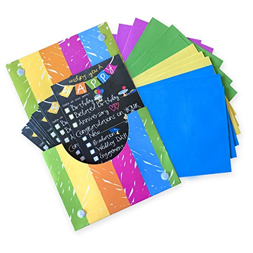 Greeting Cards for All Occasions Boxed Set Includes Cards, Gift Tags & Gift Stickers (Checkbox Card-for-All-Occasions)