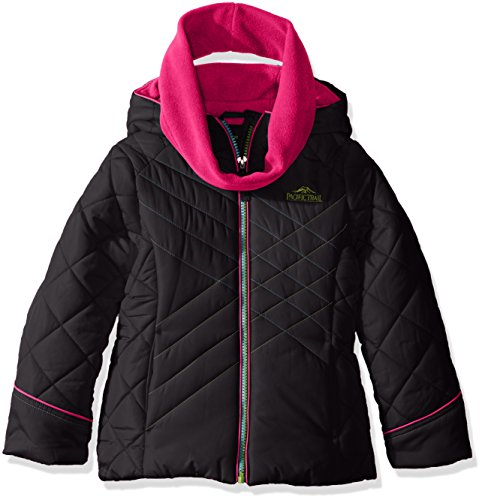 Pacific Trail Little Girls' Puffer Jacket with Neck Warme...