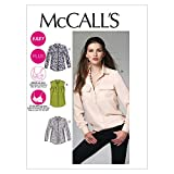 McCall's Patterns M6436 Misses'/Women's Shirts, Size RR (18W-20W-22W-24W)