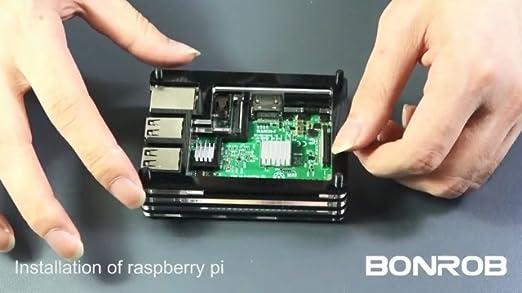 Amazon.com: Raspberry Pi 3 B+ - Carcasa con ventilador + ...