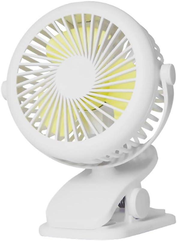 XIAOF-FEN Mini Clip-on Table Fan USB Rechargeable Portable Swing Fan 3-Speed 360-degree Rotation Fan USB Fan Color : Black