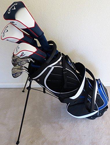 CallawayメンズCompleteゴルフセットクラブドライバー フェアウェイウッド ハイブリッド アイアン 砂ウェッジ パター レギュラーフレックスの商品画像