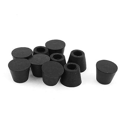 Popular Brand 10pcs 10mm Hole Dia Furniture Leg Protector Cone Shaped Rubber Feet Pads Black Tools