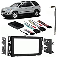 Fits Saturn Outlook 2007-2009 Double DIN Harness Radio Install Dash Kit