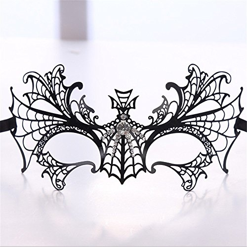 Face mask Shield Veil Guard Screen Domino False Front Venice Diamonds Half face Metal Iron mask Female Blind Date Halloween Makeup Dance Party Party Holiday Supplies]()