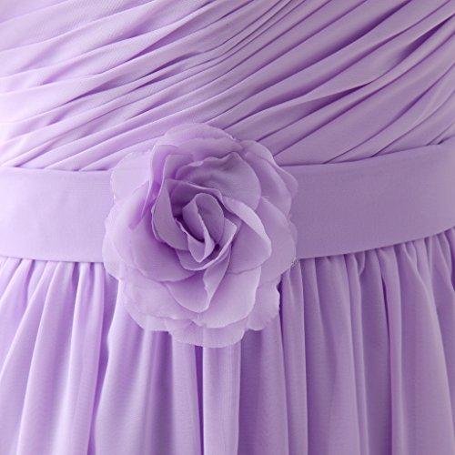 Erosebridal Brautjungfernkleider mit Ärmeln Lange Abendkleid