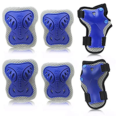 HIQUE Elbow Pads Knee Guards, Children/Adult Protective Gear Set for Skateboard,Blading,Biking, Riding, Cycling and Multi Sports, Scooter, Bicycle, Rollerblades: Toys & Games