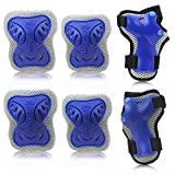 Elbow Pads Wrist Guards Knee Guards, HIQUE Children/Adult Protective Gear Set for Skateboard,Blading,Biking, Riding, Cycling and Multi Sports, Scooter, Bicycle, Rollerblades