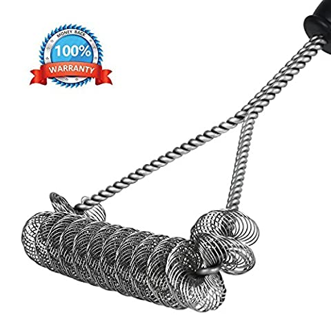 Yangdx BBQ Grill Brush Safe and Bristle Free, Stiff Design Barbecue Grill Brush, Rust Proof Stainless Steel BBQ Grill Cleaner, Safe & Durable Grill Cleaning brush for Porcelain, Ceramic, Steel, - Kitchen Grill Brush