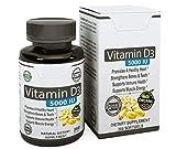 Vita Op Vitamin D3 5000 IU - in Certified Organic Olive Oil (360 minigels) GMO-Free & Made in USA