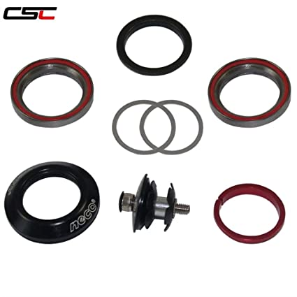 """neco 1-1//8/"""" Carbon Fiber Top co Sealed Bearing Integrated Threadless Headset"""