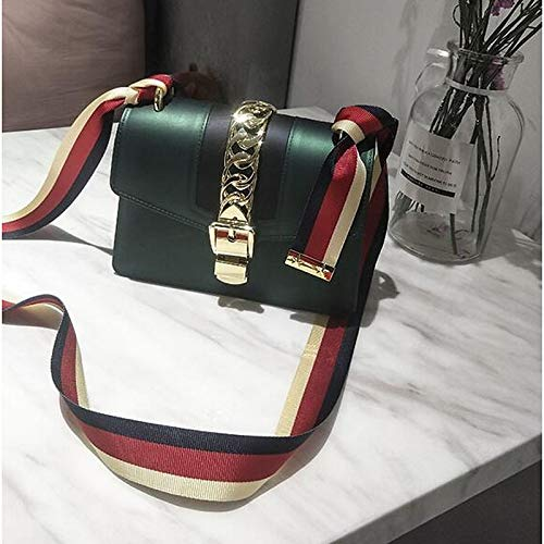 Wine Shoulder Green Capacité sac Gree Bags Bag QZTG De Dark à PU Women's Sacs Tout Main À Buttons Dark main Black Fourre Grande 7YYgwx