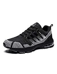 Lauwodun Mens Running Shoes Air Cushion Sneakers Breathable Lightweight Athletic Tennis Outdoor Sport Shoe for Men