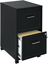 File Cabinet 2 Drawer Wheels Rolling Storage Home Office With Lock And Key  Furniture Mobile Filing