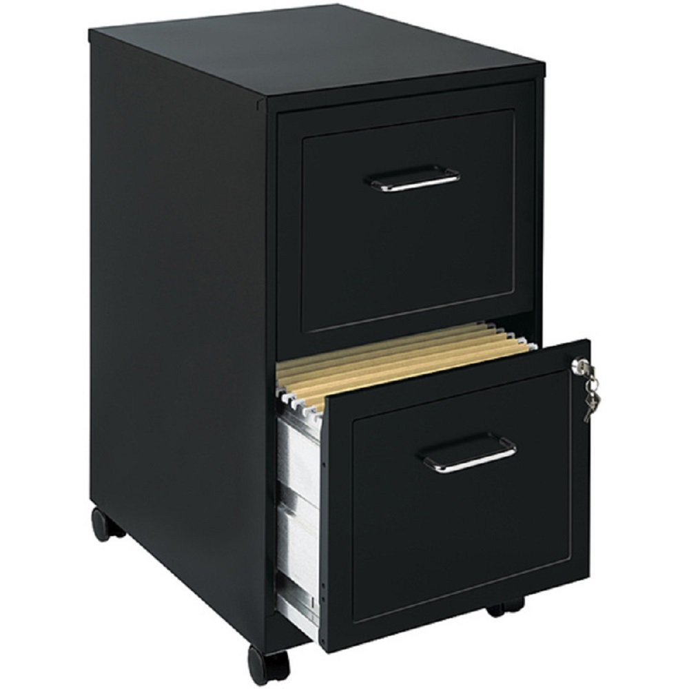 Amazon com file cabinet 2 drawer wheels rolling storage home office with lock and key furniture mobile filing cart organizer stainless steel black kitchen