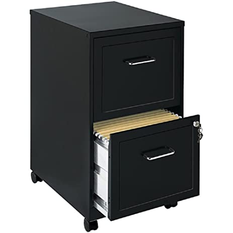 Amazon.com: File Cabinet 2 Drawer Wheels Rolling Storage Home ...