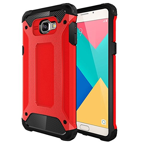 SRY-screen protector For Samsung Galaxy A9 / A900 Tough Armor TPU + PC Combination Case ( Color : Red )