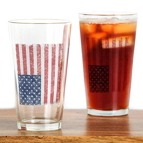 CafePress Distressed American Glass Drinking