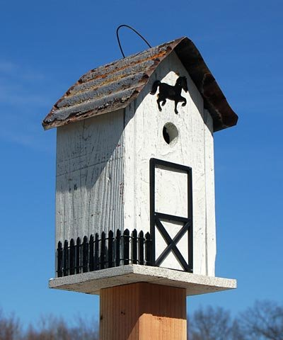 Bird In Hand White Summitville Stable Bird House For Sale