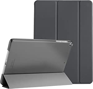 ProCase Smart Case for iPad Air 1st Edition, Ultra Slim Lightweight Stand Protective Case Shell with Translucent Frosted Back Cover for Apple iPad Air 2013 Model (A1474 A1475 A1476) -Grey