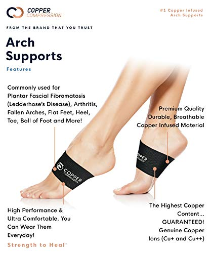 copper compression arch support